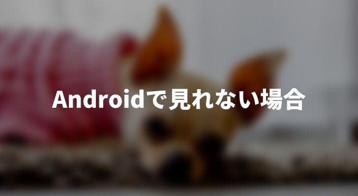 AndroidでAmazonプライムビデオが見れない