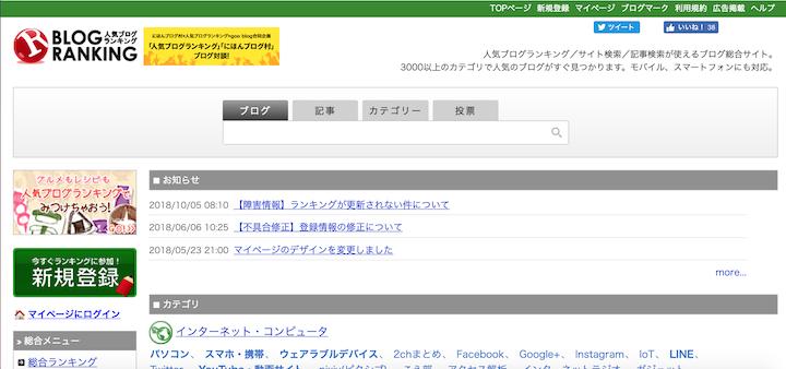検索流入がないからブログランキングからアクセスを促す